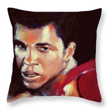 Muhammad Ali 551 3 Throw Pillow