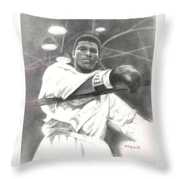 Young Cassius Clay Throw Pillow by Noe Peralez