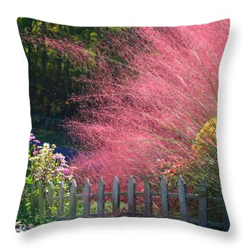 Throw Pillow featuring the photograph Muhly Grass by Kathryn Meyer