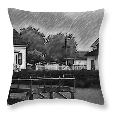 Mukilteo Lighthouse And The Dock Throw Pillow