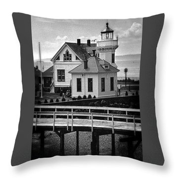 Throw Pillow featuring the photograph Mukilteo Lighthouse by Elf Evans