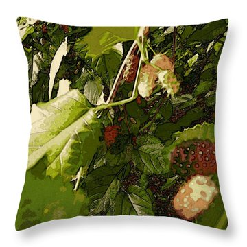 Mulberry Moment Throw Pillow