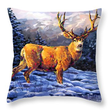 Mule Deer 2 Throw Pillow