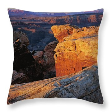 Muley Point Sunrise Throw Pillow