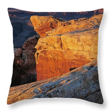 Muley Point Sunrise-v Throw Pillow