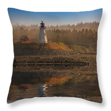 Throw Pillow featuring the photograph Mulholland Point Lighthouse by Rick Berk