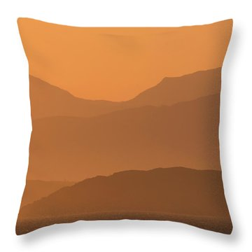 Throw Pillow featuring the photograph Mull Sunrise by Karen Van Der Zijden