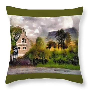 Mullaghnaneane Church And Ben Bulben Throw Pillow