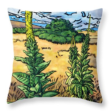 Mullein Throw Pillow by Fay Biegun - Printscapes
