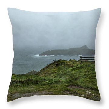 Throw Pillow featuring the photograph Mullion Cove by Brian Roscorla