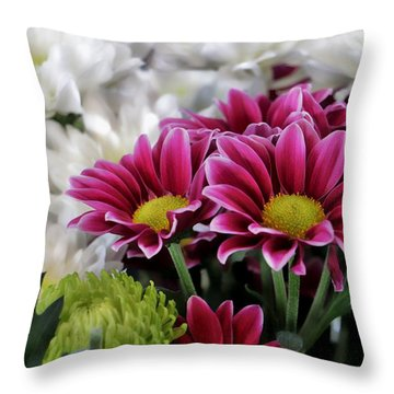 Multi Colored Array Throw Pillow