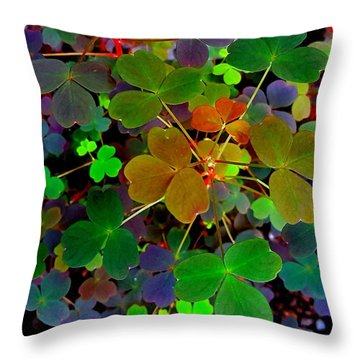 Multi-coloured Leaves Throw Pillow