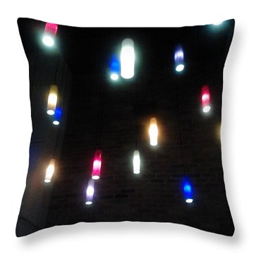 Multi Colored Lights Throw Pillow