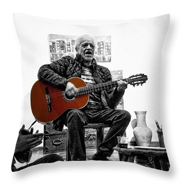 Multi-talented Artist Throw Pillow by Al Bourassa