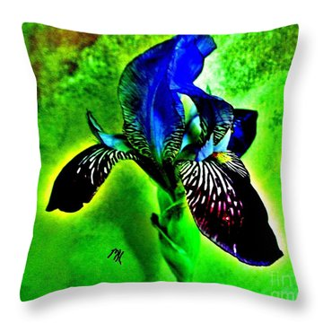 Multicolor Iris Throw Pillow by Marsha Heiken