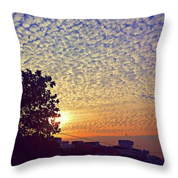 Multicoloured Sky Throw Pillow