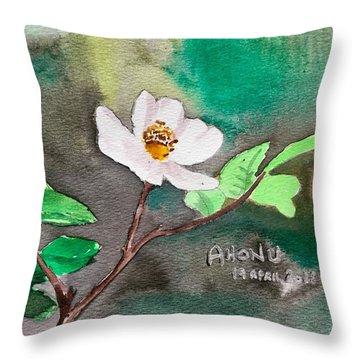 Multiflora Rosa Throw Pillow
