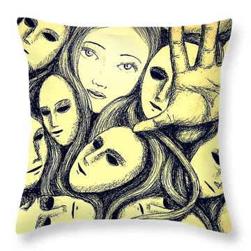 Multiple Personalities Throw Pillow