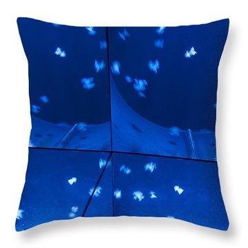 Throw Pillow featuring the photograph Multiplication - Jellyfish by Menega Sabidussi