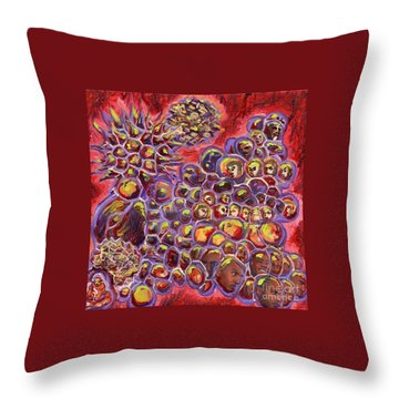 Multiply Microbiology Landscapes Series Throw Pillow