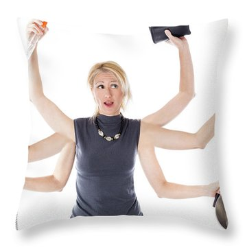 Multitasking Housewife Throw Pillow