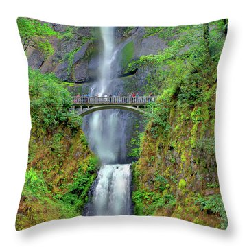 Multnomah Falls 2  Throw Pillow