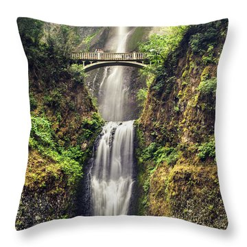 Multnomah Falls Lower Throw Pillow