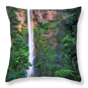 Multnomah Falls Portland Oregon Throw Pillow