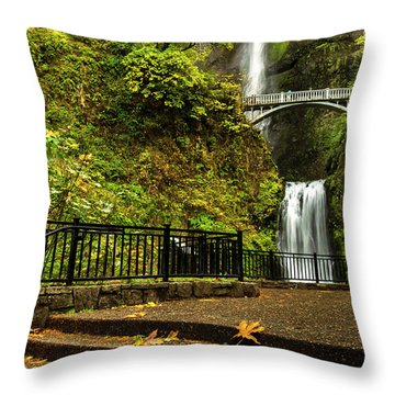 Multnomah Falls,oregon Throw Pillow