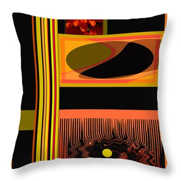 Mum Abstract 1 Throw Pillow