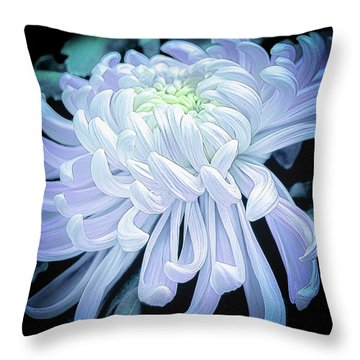 Throw Pillow featuring the photograph Mum In White by Julie Palencia