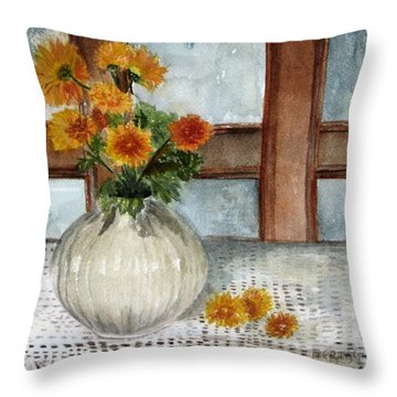 Mum Is The Word Throw Pillow