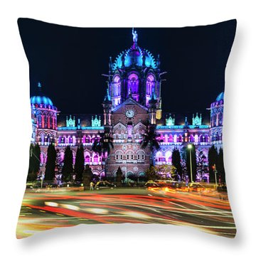Throw Pillow featuring the photograph Mumbai Moment by Dan McGeorge