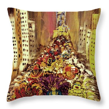 Mummers Throw Pillow