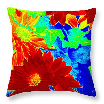 Mums In My Coloring Book Throw Pillow