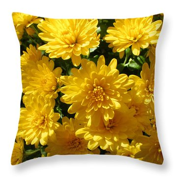 Mums The Word Throw Pillow by Brooks Garten Hauschild