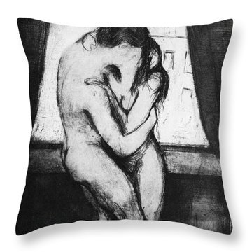 The Kiss, 1895 Throw Pillow