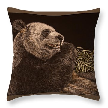 Munching Out Throw Pillow