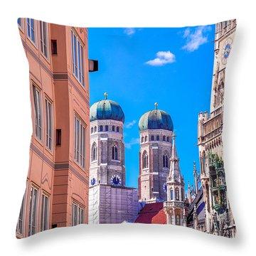 Munich Center Throw Pillow