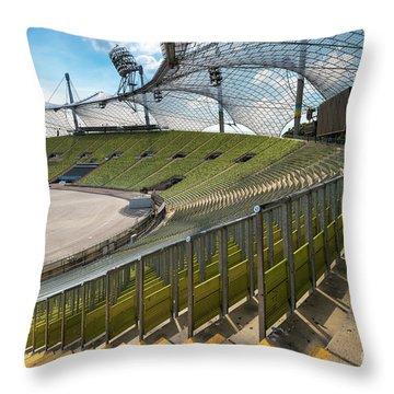 Munich - Olympic Stadium Throw Pillow