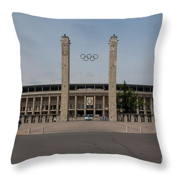Berlin Olympic Stadium Throw Pillow by Nichola Denny