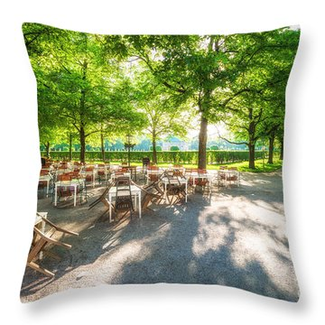 Throw Pillow featuring the photograph Munich Spring Impression by Juergen Klust