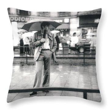 Throw Pillow featuring the photograph Munich Tram Stop by KG Thienemann
