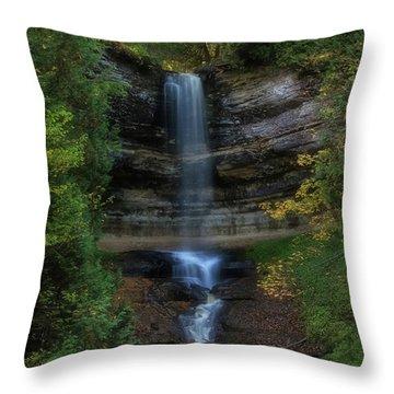 Munising Falls Throw Pillow