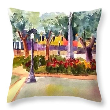 Munn Park, Lakeland, Fl Throw Pillow