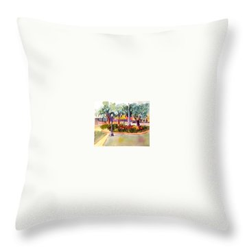 Munn Park, Lakeland, Fl Throw Pillow