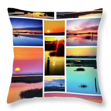 Throw Pillow featuring the photograph Mural 2 Carolina In The Morning by Jo Ann Tomaselli