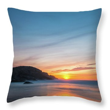 Murder Hole Beach Throw Pillow