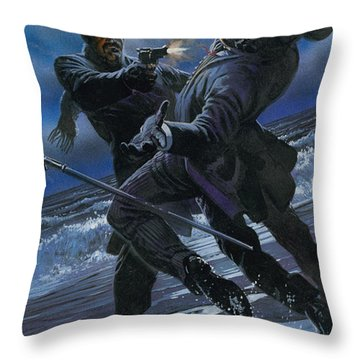 Murder Throw Pillow by Oliver Frey