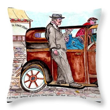 Murder On Hamilton Avenue, Red Hook, Brooklyn Throw Pillow